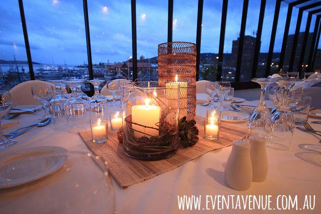 Simple yet elegant table set, vintage candle holder
