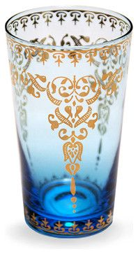 Moroccan Glass - Azure 12 oz. transitional-cups-and-glassware