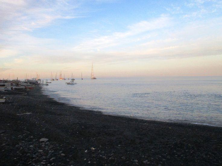 Černá pláž - Tyrhénské moře - ostrov Stromboli - Itálie