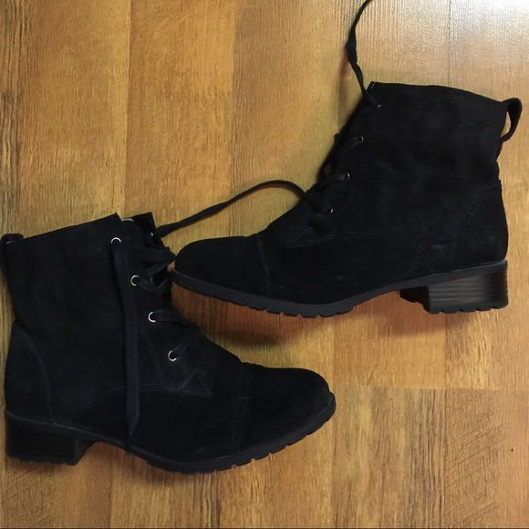 Naturalizer Boots Women's Black Suede Naturalizer Boots with fleece lining  Naturalizer Shoes Ankle Boots & Booties
