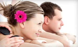 Groupon - Couples Champagne and Roses Spa Package or Massage Package for One at Pure Daily Bliss Day Spa (55% Off) in NORCO (Norco). Groupon deal price: $49.0