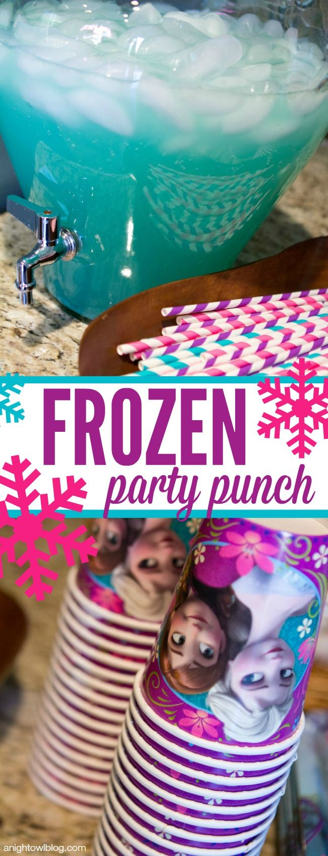 Frozen Party Punch - easy and perfect for Frozen parties!