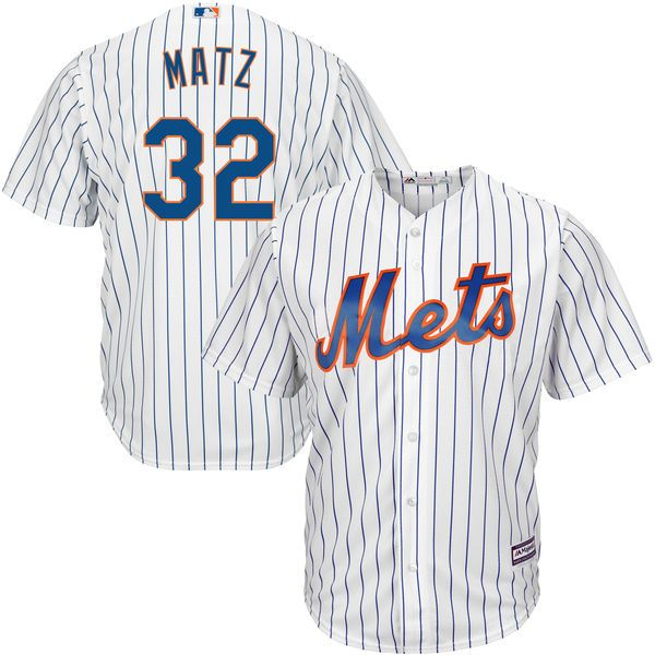 Steven Matz New York Mets Majestic Official Cool Base Player Jersey - White - $141.99
