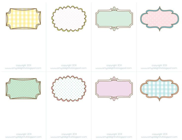 PRINTABLE note cards/place cards/ gift tags...