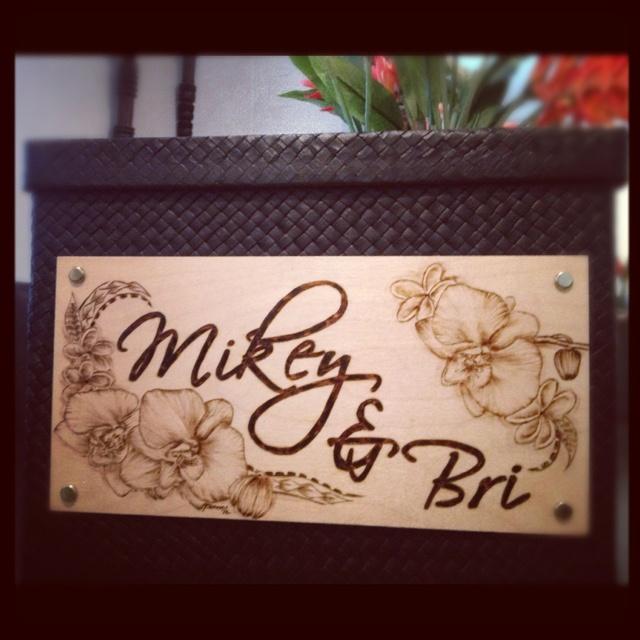 Custom money box for a Polynesian wedding #moneybox #polynesian #wedding