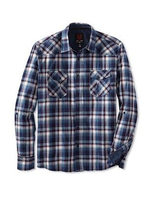 one90one Men's Aramendia Double Pocket Plaid Shirt