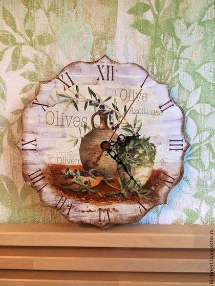 Часы для дома ручной работы. Ярмарка Мастеров - ручная работа Моя Италия. Handmade.