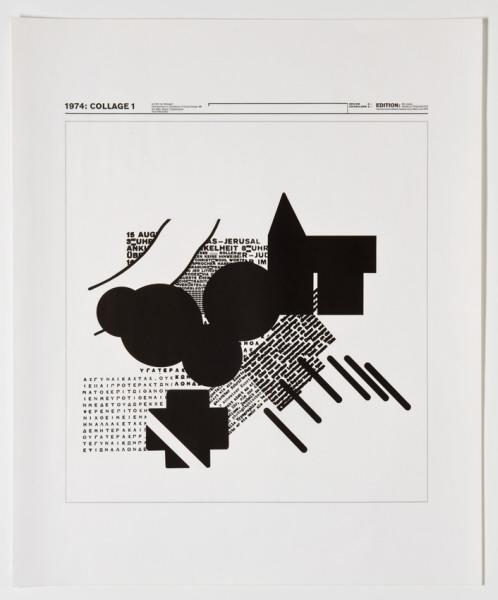 Kleinplakat Typografie    1974: Collage 1 (Originaltitel)  1974-1975, Wolfgang Weingart