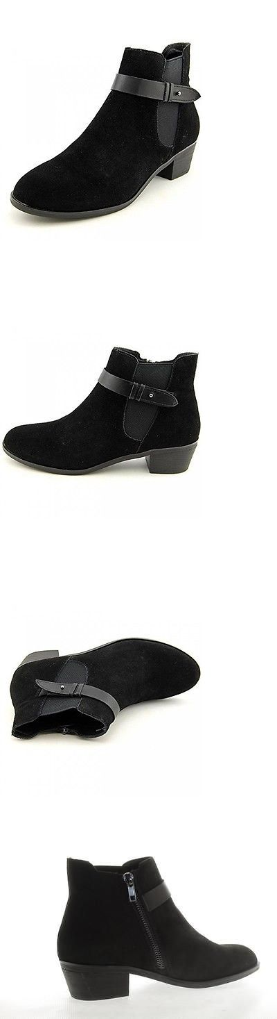 Women Boots: New! Steve Madden Perii Ankle Boots / Booties: Womens Sz 8: Black Suede BUY IT NOW ONLY: $46.99