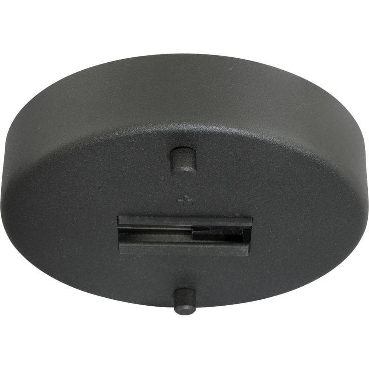 Progress Lighting P8734 Alpha Trak Monopoint Canopy for Line-Voltage Heads or Pe Black Indoor Lighting Track Lighting Accessories