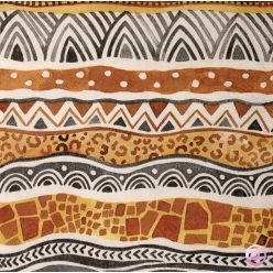 serviettes motif african patterns