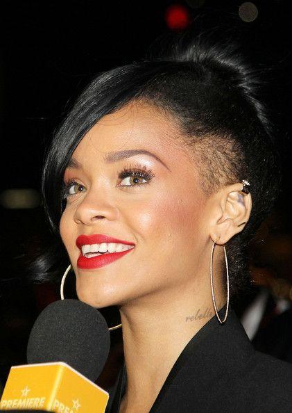 "Rihanna arrives at the ""Battleship"" film premiere at Luna Park in Milsons Point Sydney."
