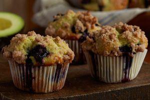 Avocado-Blueberry Muffins