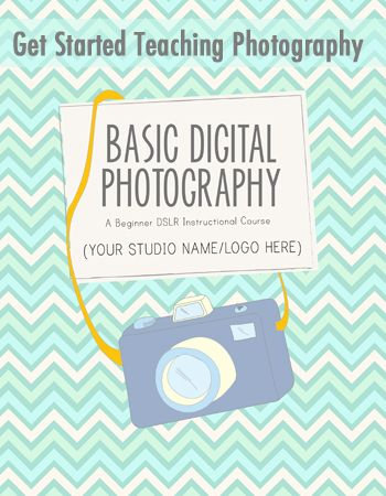 The Basic Digital Photography course curriculum is an instructional course designed to help you teach hobbyists about their cameras. This bundled package contains all necessary template materials needed to teach a basic photography class. During the course students will learn how to locate and use the manual settings on their cameras to get better photos.