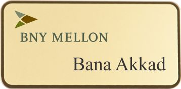 The elegant bordered metal name tags helps to create an upscale appearance. Your staff will stand out from the crowd while wearing these unique metal tags.