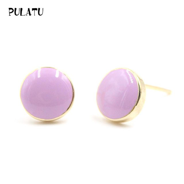 Aliexpress.com : Buy 10 color Cute Button Earrings For Girl Minimalist Lovely Candy colors small Stud Earrings Hypoallergenic Fashion women jewery210 from Reliable small stud earrings suppliers on PULATU Lovers Store