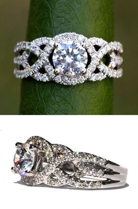 TWIST OF FATE 14k White gold Diamond by BeautifulPetra on Etsy