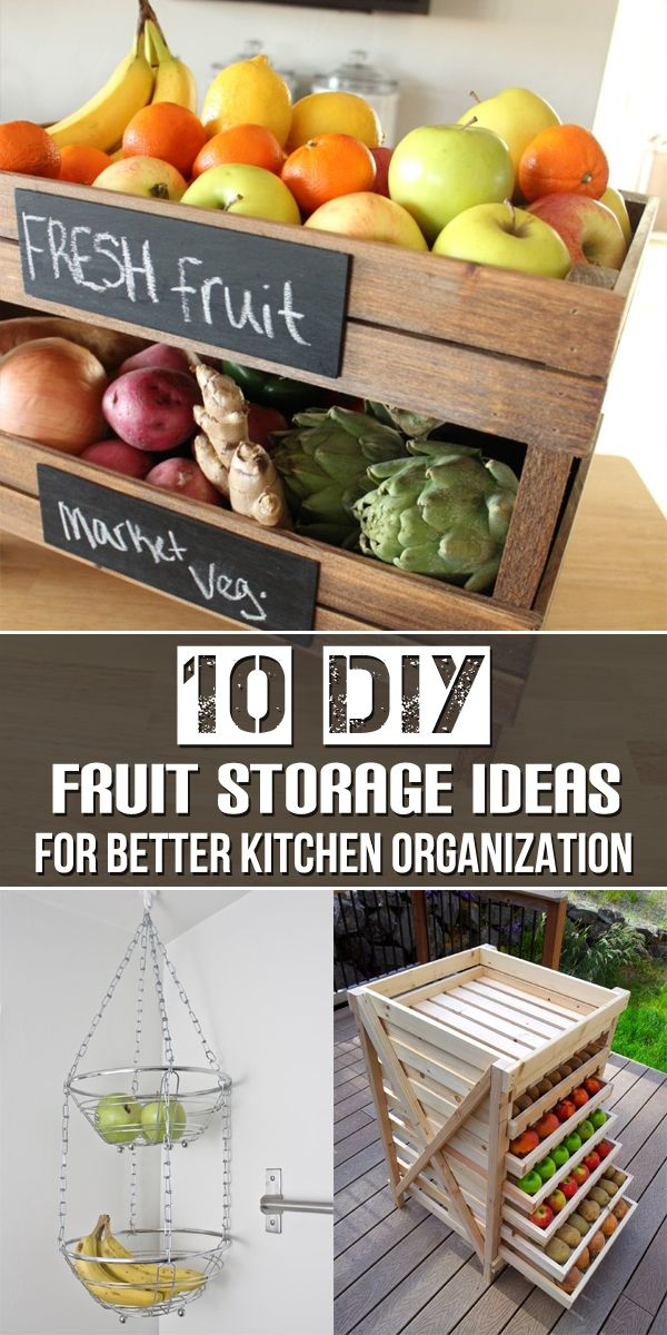10 DIY fruit storage ideas that you can make in order to make your kitchen more practical and organized.