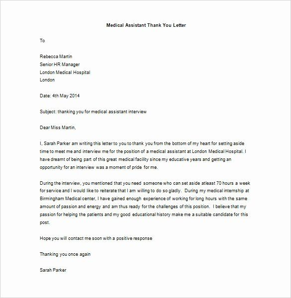 Medical School Interview Thank You Letter Best Of Medical School Interview Thank You Lett Thank You Letter Interview Thank You Letter Thank You Letter Template