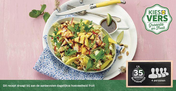 Recept voor Pittige ananassalade met kip #Lidl #Ananas