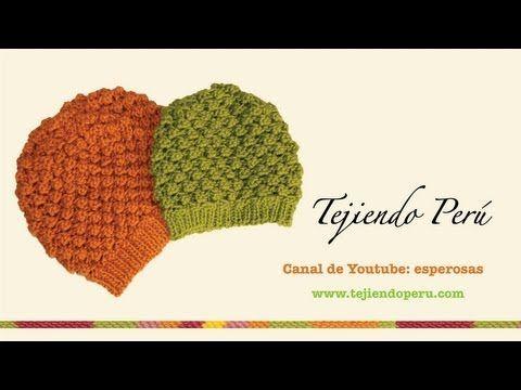 Visita mi página: http://www.tejiendoperu.com/ y encontrarás muchos tutoriales más!  Linda boina con caída tejida en palitos!!  Parte 2 de 2