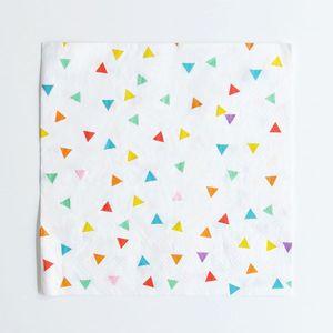 20 serviettes triangles multicolores My Little Day