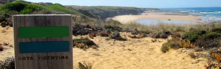 """Rota Vicentina is one of the Best European Trails. The hiking trail linking Santiago do Cacém and Sagres was certified by the European Ramblers Association. Now, Rota Vicentina is one of the 12 European wth the """"Leading Quality Trails – Best of Europe"""" title.  A rede de percursos pedestres que liga Santiago do Cacém a Sagres foi certificada pela European Ramblers Association. Apenas 12 rotas europeias têm o título de """"Leading Quality Trails – Best of Eur..."""