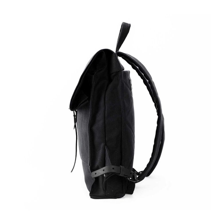 The Rolltop Backpack   Black Canvas - STONE & CLOTH Classic Canvas Backpack, Rolltop Backpack, Carry on, Travel bag, Rucksack, Fashion, Quality products, Made In USA, Handmade, Etsy, Laptop Bag, Macbook Backpack, Laptop Backpack, Waxed Canvas bag, Leather details, black canvas, leather, style,