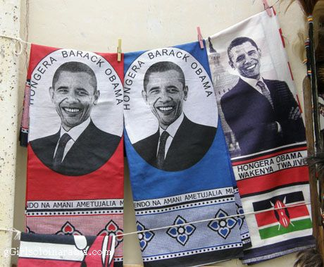 khangas from Kenya depiciting Obama!