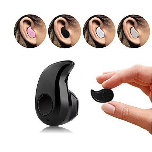 Airmate Ultra Mini Wireless Invisible Bluetooth 4.0 in-Ear Music Earphone Earbud Headset Headphone with Microphone for iPhone Samsung LG iPad HTC and Most Smartphone