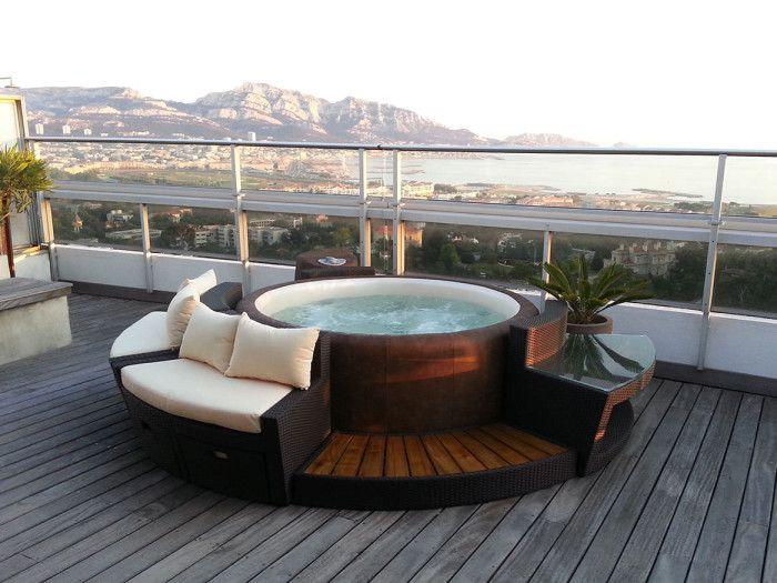 25+ best ideas about Backyard hot tubs on Pinterest   Modern deck ...