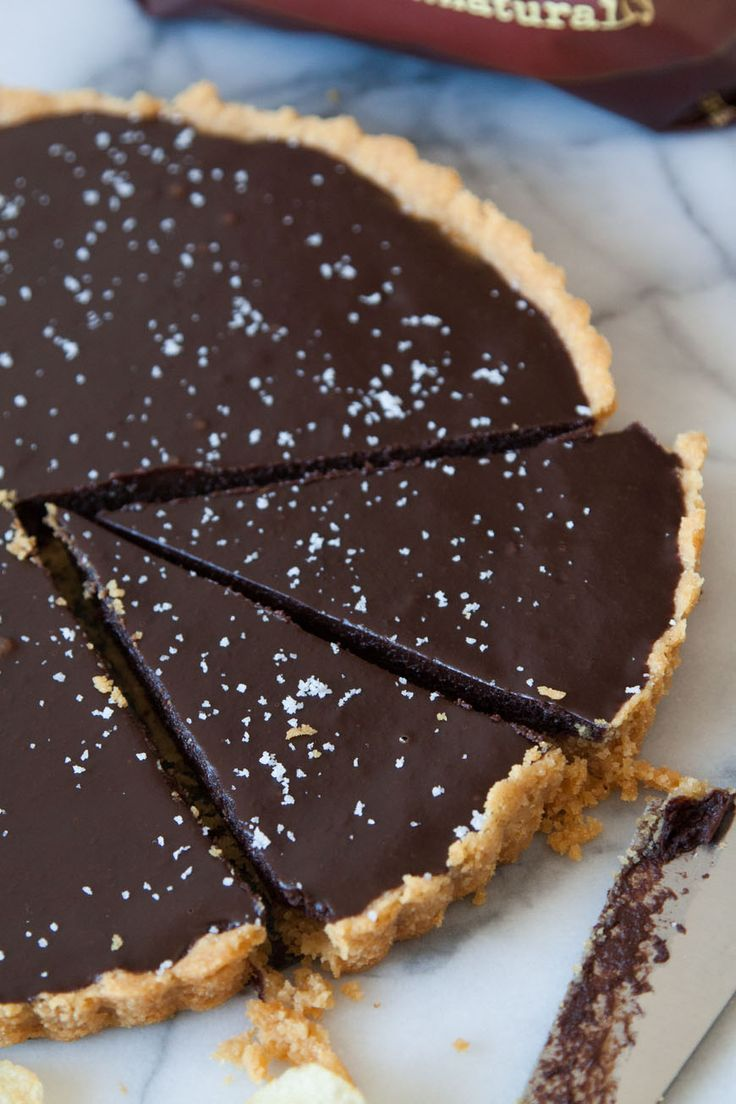 Salted Chocolate Tart with Kettle Chip Crust