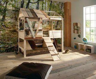 indoor baumh user coole ideen f r kinder tolles baumhaus kinderzimmer pinterest. Black Bedroom Furniture Sets. Home Design Ideas