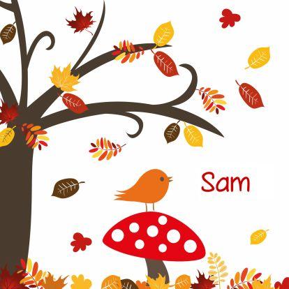 Herfst seizoen geboortekaartje - Geboortekaartjes - Kaartje2go