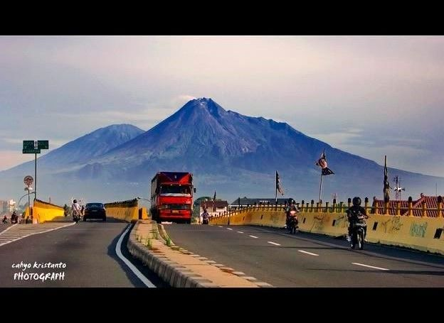 visit to indonesia this is merapi mountain