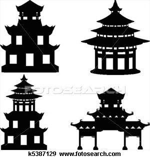 pagoda silhouette | Bywater Boo: Da Pagodas...