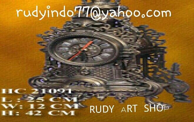 Antique Raw Bronze Clock