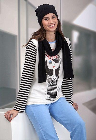 Pijama invierno mujer Massana modelo CARA http://www.perfumeriaelajuar.com/homewear/pijama-mujer-invierno-/30/ # pijama #massana #invierno