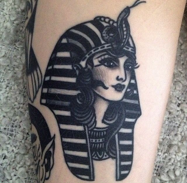 Pharaoh girl tattoo