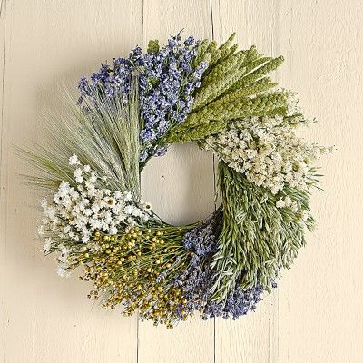 Lavender Abundance Wreath #williamssonoma