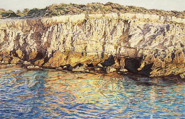 Limestone Coast - ROBE. South Australia, Australia. Original artwork by Geoff Sargeant.