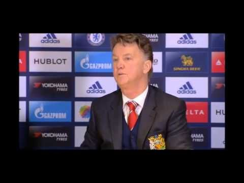 Louis van Gaal reluctantly praises De Gea for making a couple of saves v Chelsea (Video)
