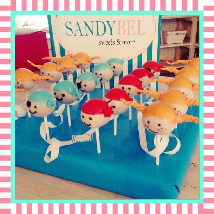 Pippi Langstrumpf und Piraten #cakepops by #sandybel #piraten #pippilangstrumpf #sweets&more