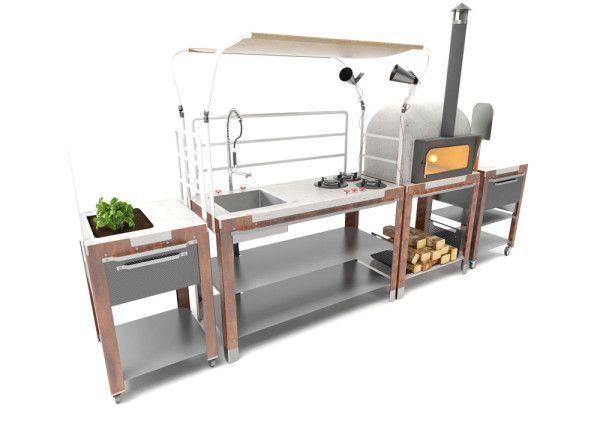 Satellite: An Outdoor Kitchen System by Riccardo Randi, Riccardo Trabattoni, and Dario Distefano for Schiffini