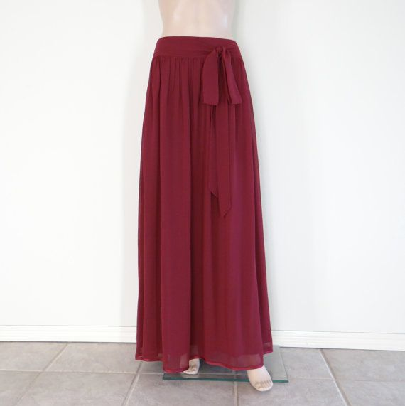 Maxi Skirt. Long Skirt. Floor Length Skirt by lisaclothing on Etsy, $35.99