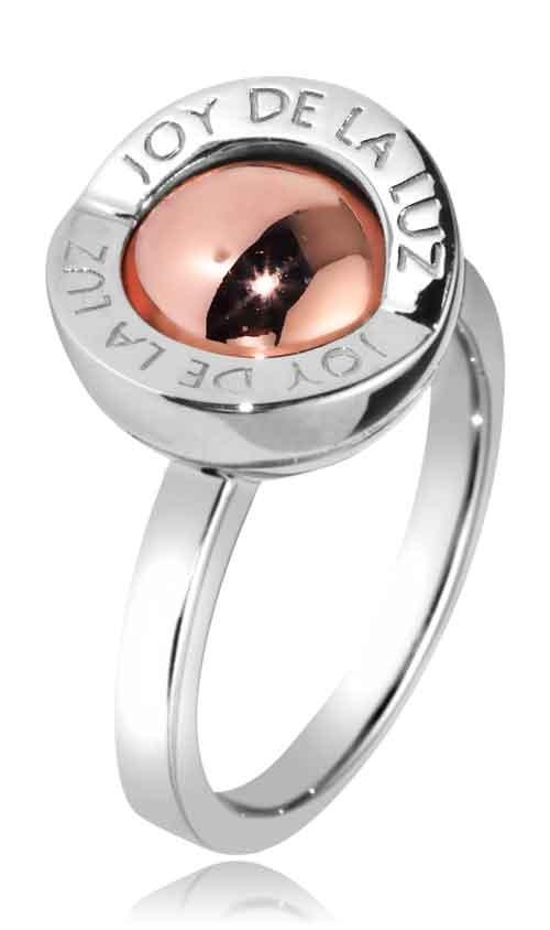 Joy de la Luz | Ring logo silver/rosé  €70,00