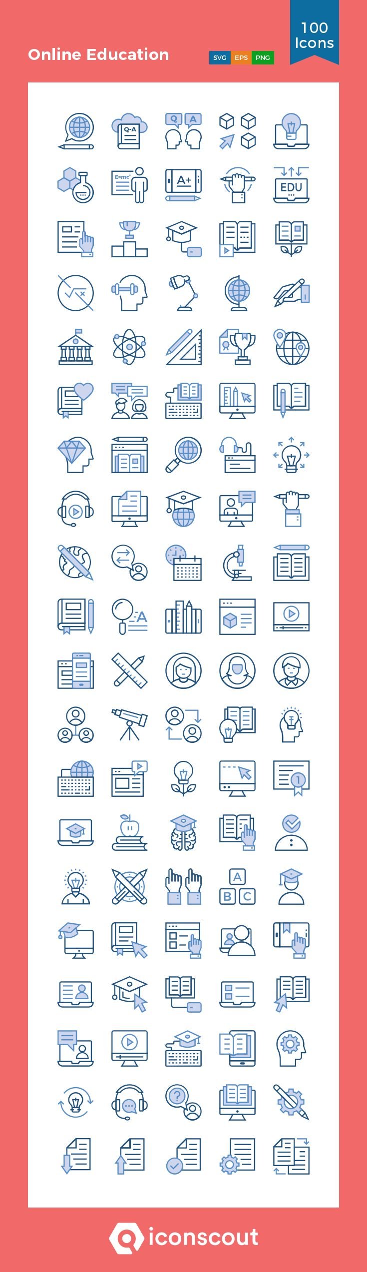 Download Online Education Icon pack - Available in SVG, PNG, EPS, AI & Icon fonts