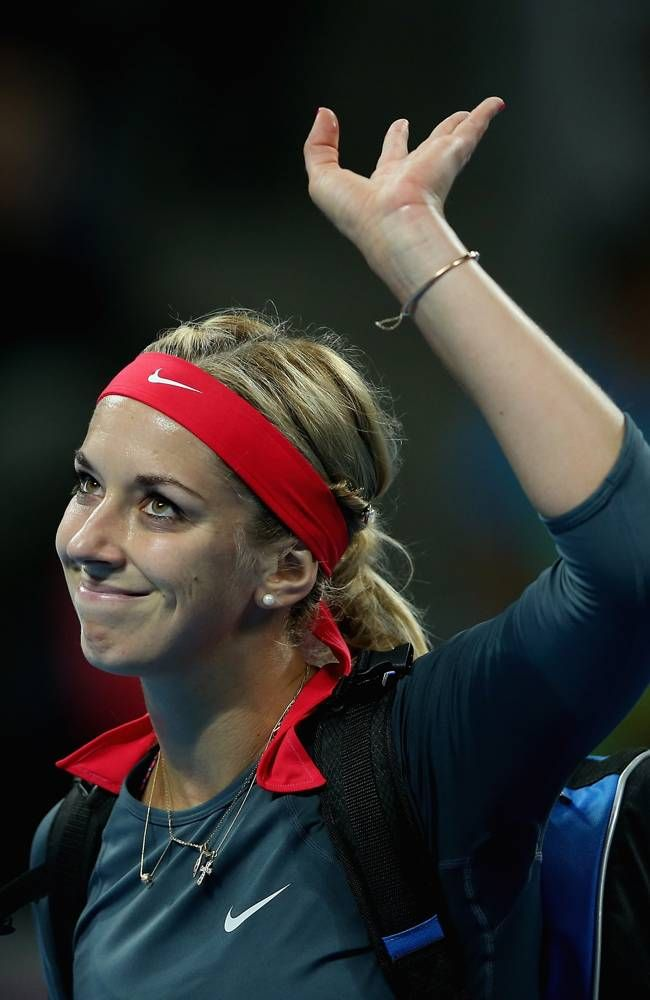 Sabine Lisicki of Germany waves to fans after her women's singles match against Li Na of China on day five of the 2013 China Open at the National Tennis Center on October 2, 2013 in Beijing, China. #WTA #Lisicki #ChinaOpen