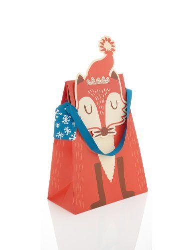 Crimbleberry Wood Tom Tom the Fox Large Christmas Gift Bag-Marks & Spencer