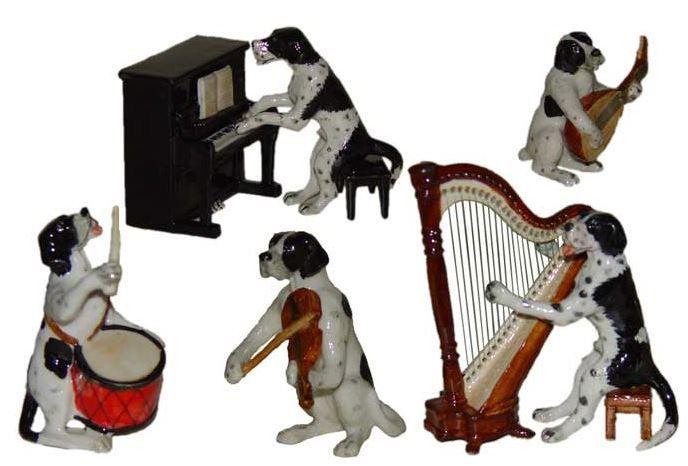 Собачий оркестр. Собаки музыканты. Миниатюрные статуэтки из Франции, ручная роспись. Поставки под заказ раз в две недели, постоянно обновляемая коллекция в наличии в шоуруме. По вопросу покупки пишите whats app 89503167416, доставка во все регионы России